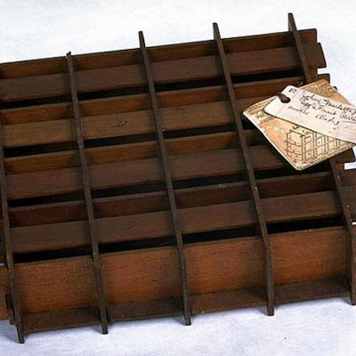 Patent Model for reuseable egg crate, patented by J. Mercette Jr., Bound Brook, New Jersey, 1879