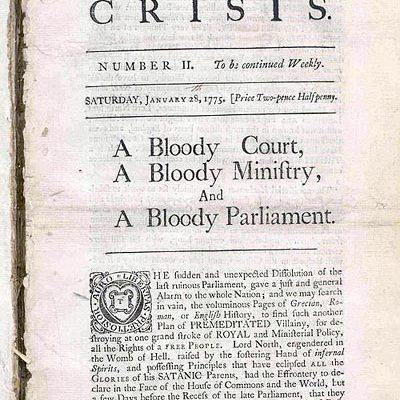 """The Crisis"", Jan. 21, 1775"