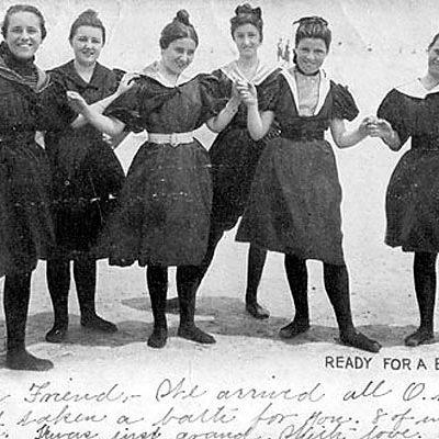 Postcard of Women Bathers, ca. 1904