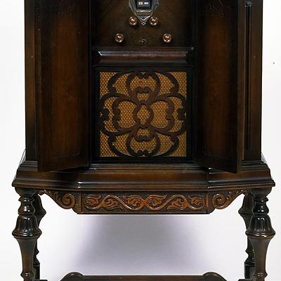 Cabinet with radio by Thomas A. Edison, Inc., West Orange, New Jersey, about. 1929