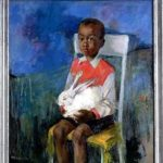 """Boy with rabbit"" by Margery Austen Ryerson"